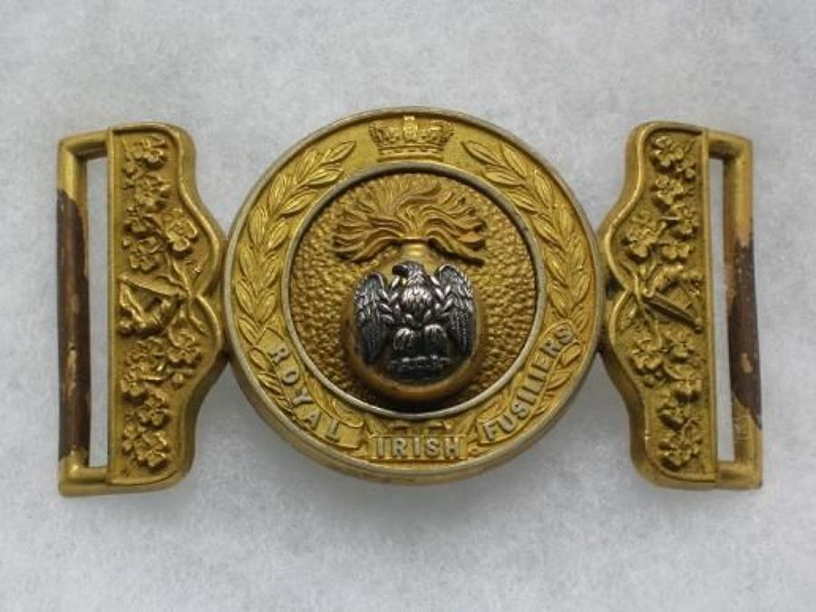 Royal Irish Fusiliers Officers Waist Belt Clasp