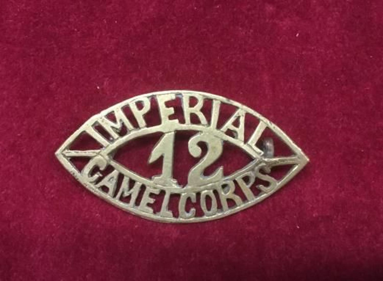 12 Imperial Camel Corps Shoulder Title/Badge