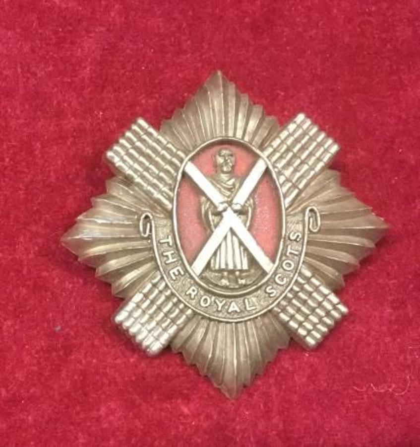 Royal Scots Plastic Cap Badge