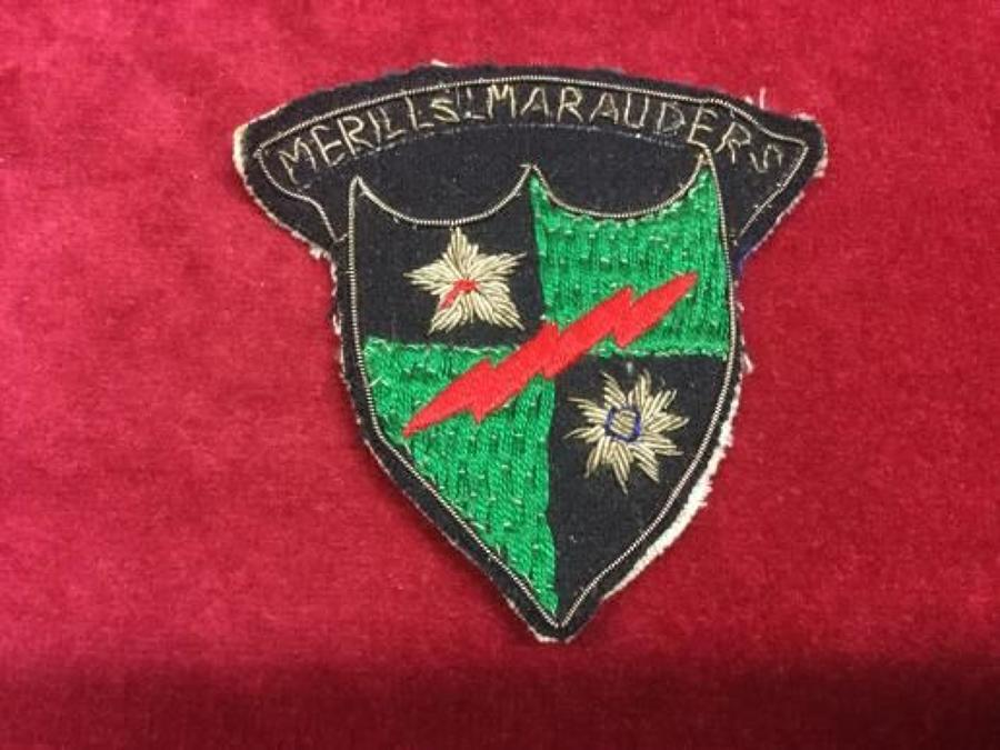 Mars Task Force 'Merrill's Marauders' arm patch