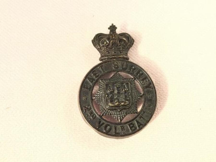 2nd Volunteer Battalion East Surrey Regiment Glengarry Badge.