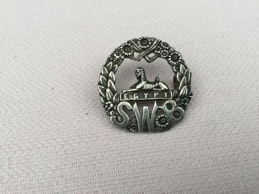 South Wales Borderers Officers Cap Insignia