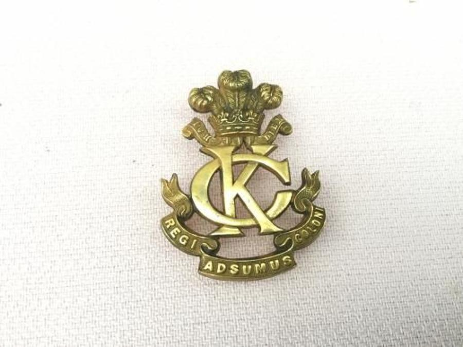 Kings Colonials Officers Slouch Hat Insignia