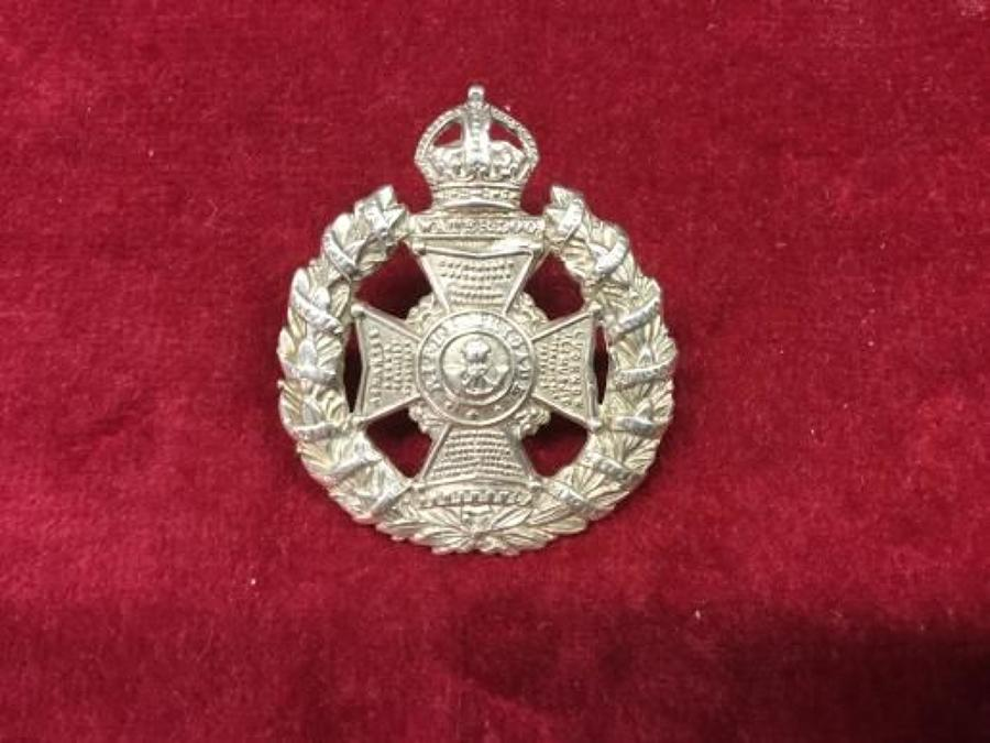 Hallmarked Silver Rifle Brigade Officers Cap Insignia