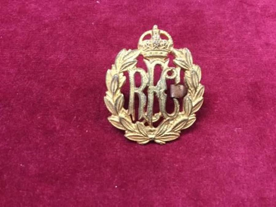 Royal Flying Corps Full Dress Service Cap Insignia