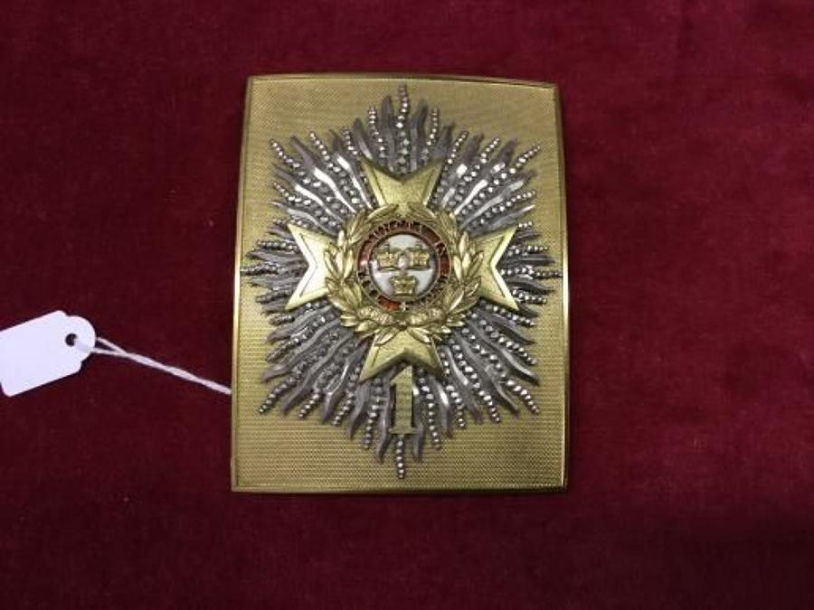 Canadian Officers Shoulder Belt Plate