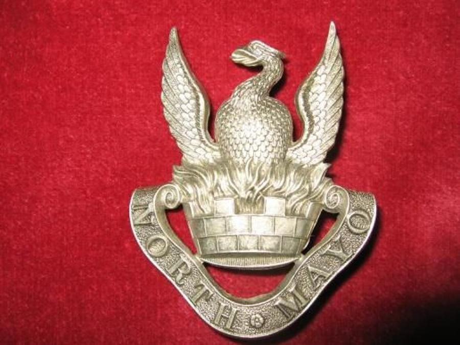 North Mayo Fusiliers, 6th Battalion Connaught Rangers. Glengarry badge