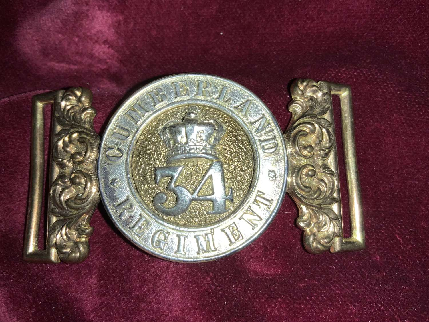 34th Of Foot Cumberland Regiment Pre, 1881, Officers Waist Belt Clasp