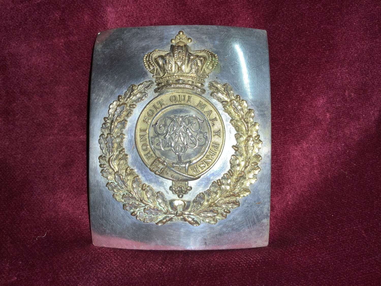 1st Surrey Militia, Officers Shoulder Belt Plate.