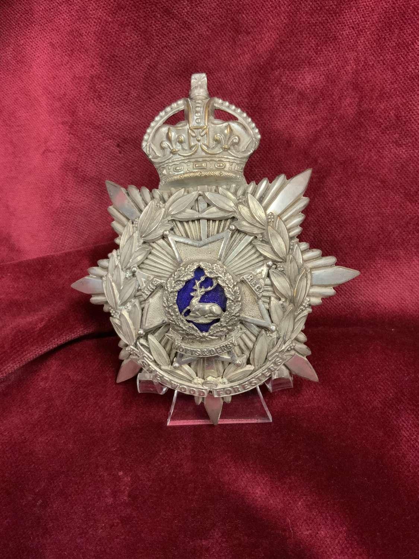 Sherwood Foresters, Volunteer Officers Helmet Plate.