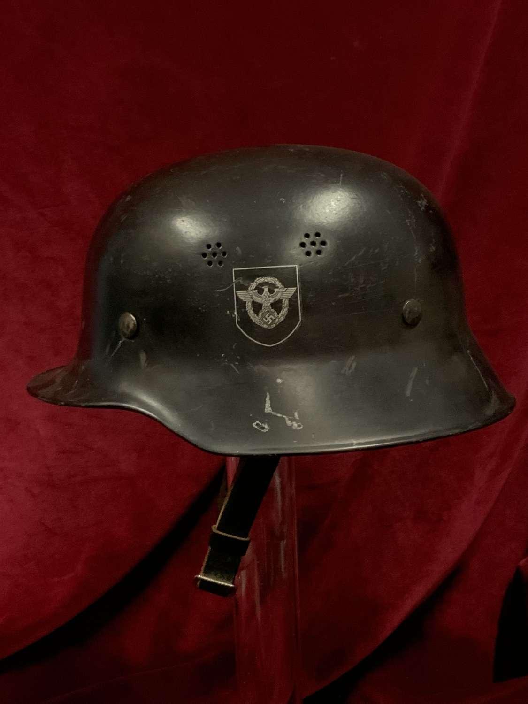 Police Double Decal, Lightweight Helmet.