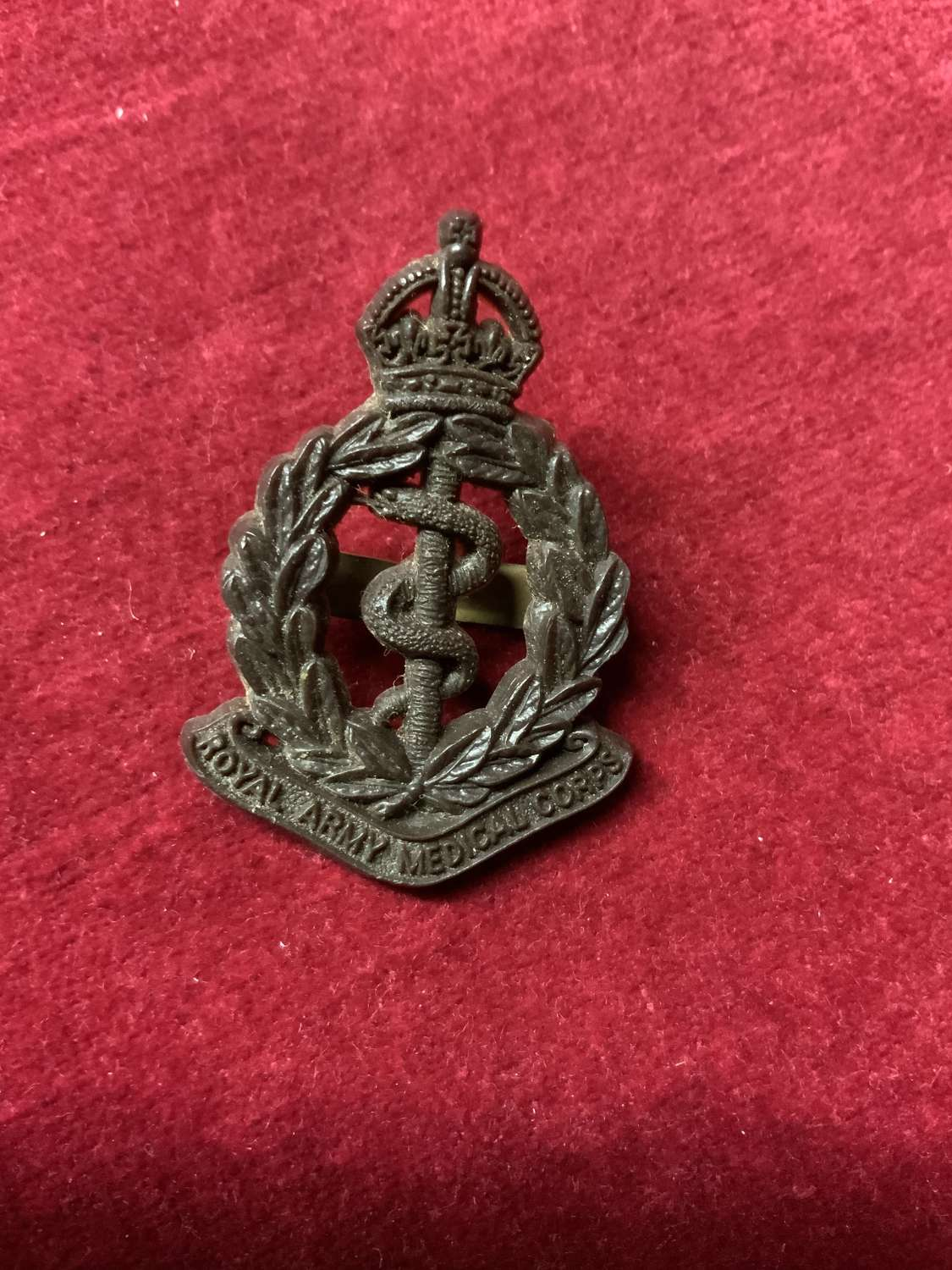 Royal Army Medical Corps, Plastic Cap Badge.