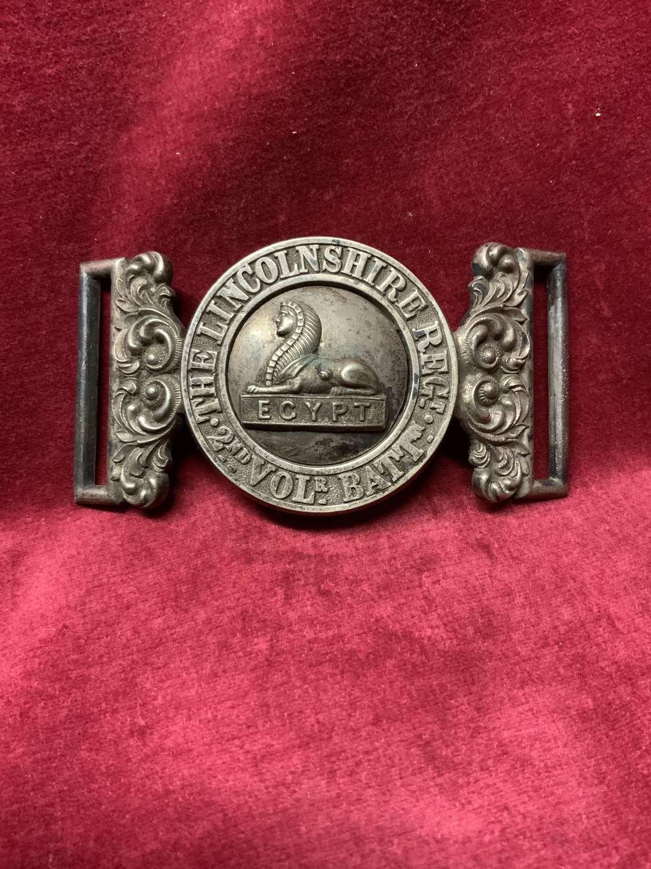 Lincolnshire Regiment, 2nd Volunteer Battalion Waist Belt Clasp.