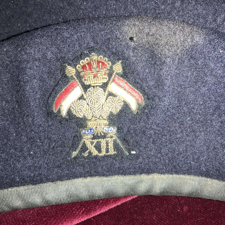 12th Lancers, Officers, Kings Crown, Black Beret.