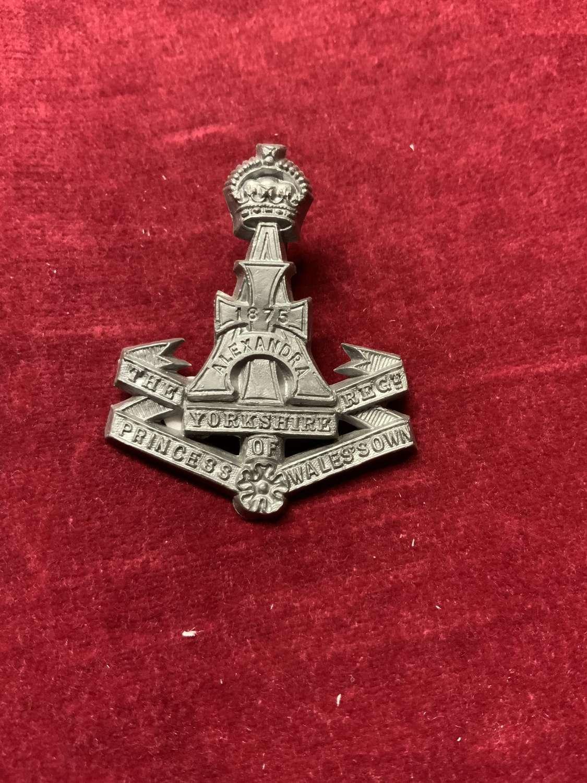 The Yorkshire Regiment Plastic Cap Badge