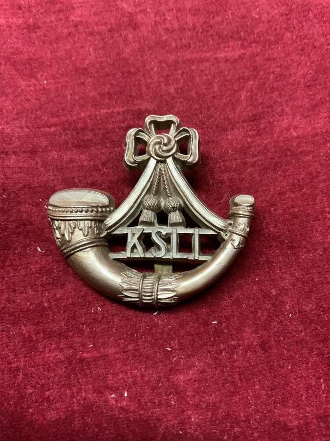 Kings Shropshire Light Infantry Bronze Coloured Cap Badge