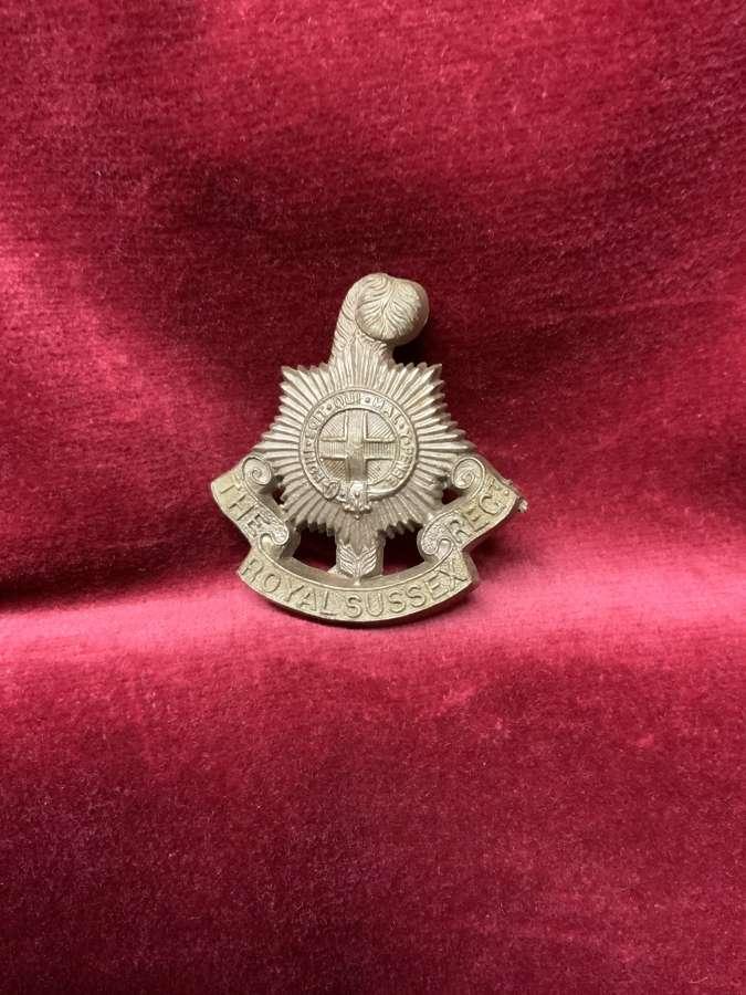 The Royal Suffolk Regiment Bronze Coloured Plastic Cap Badge
