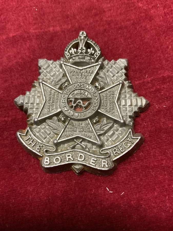 The Border Regiment Silver Coloured Plastic Cap Badge