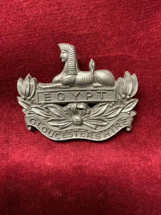 Gloucestershire Regiment Silver Coloured Plastic Cap Badge