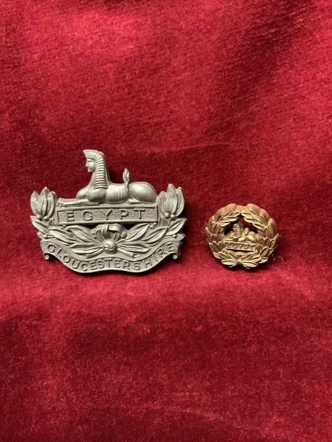 Gloucestershire Regiment Bronze Coloured Plastic Cap Badge