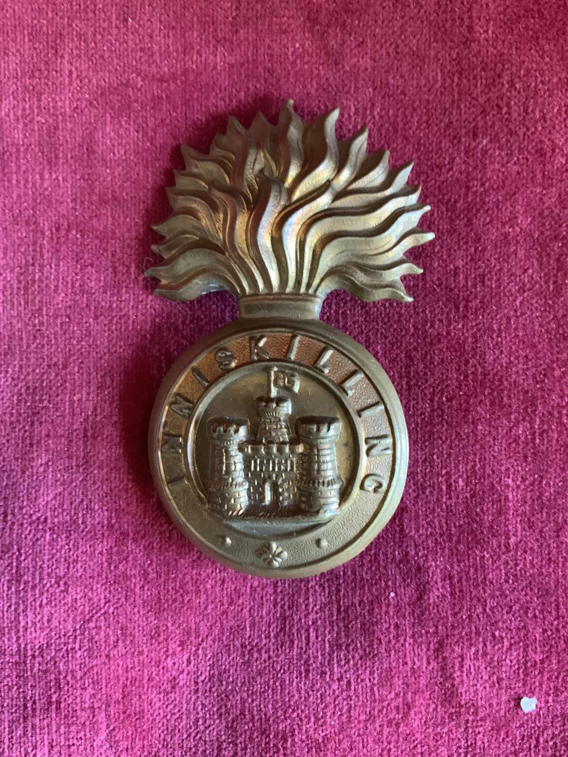 Royal Inniskilling Fusiliers, Other Ranks Victorian Glengarry Badge.