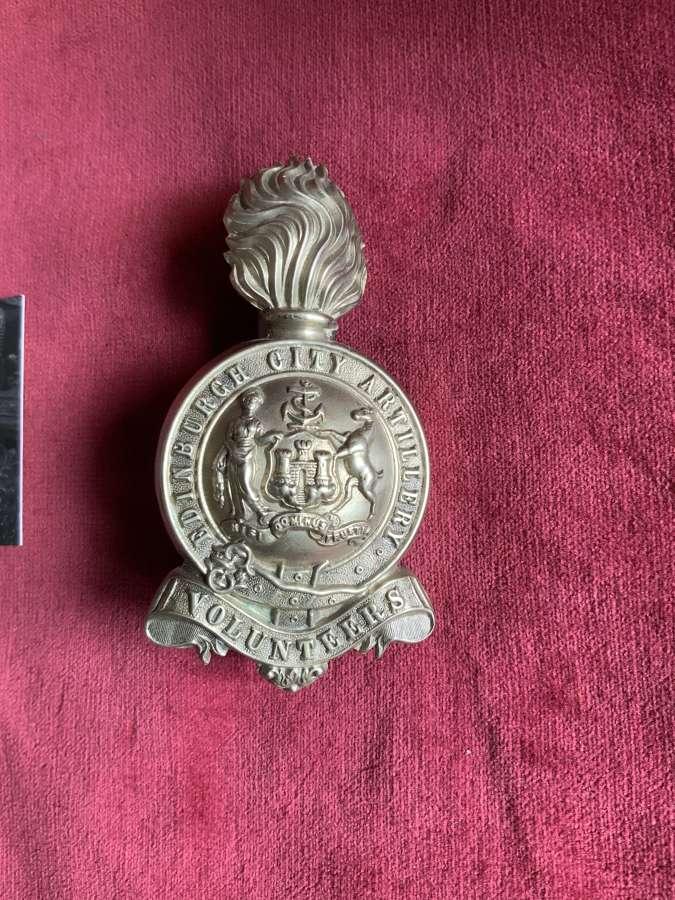 Edinburgh City Artillery Volunteers, Busby Plume Holder.
