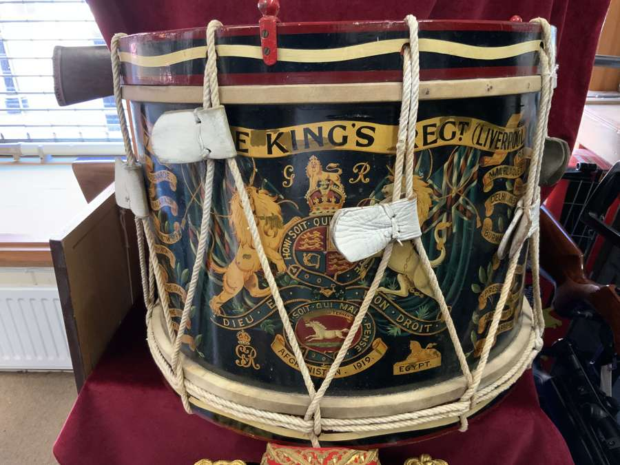 7th Battalion The Kings Regiment, Large GRV Military Drum