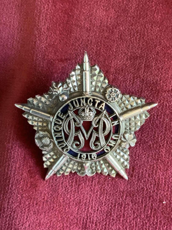 Machine Gun Regiment, Officers Hallmarked Silver Cap Badge