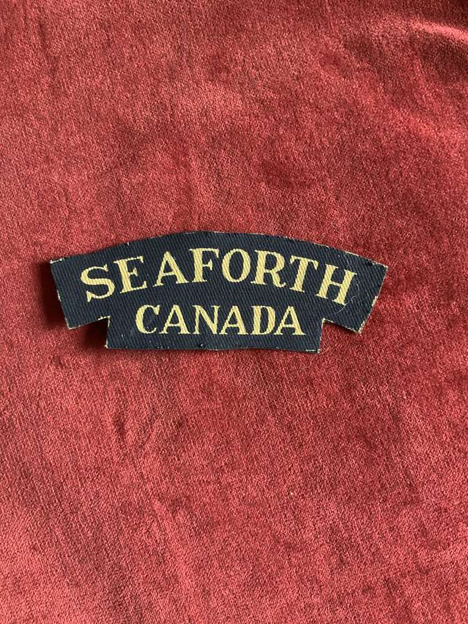 SEAFORTH CANADA, Printed Shoulder Title
