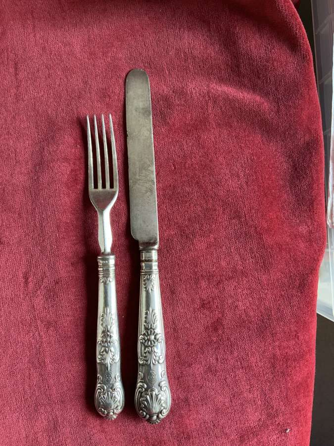 55th Regiment Hallmarked Knife & Fork, Regimental Service