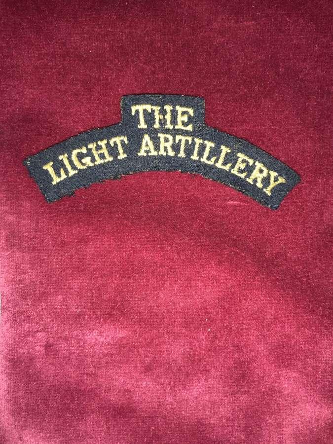 The Light Artillery.