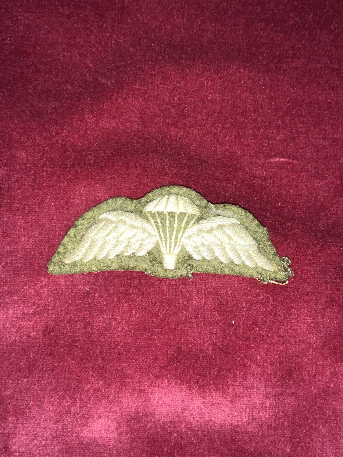 Parachutists Qualification Wing Padded.
