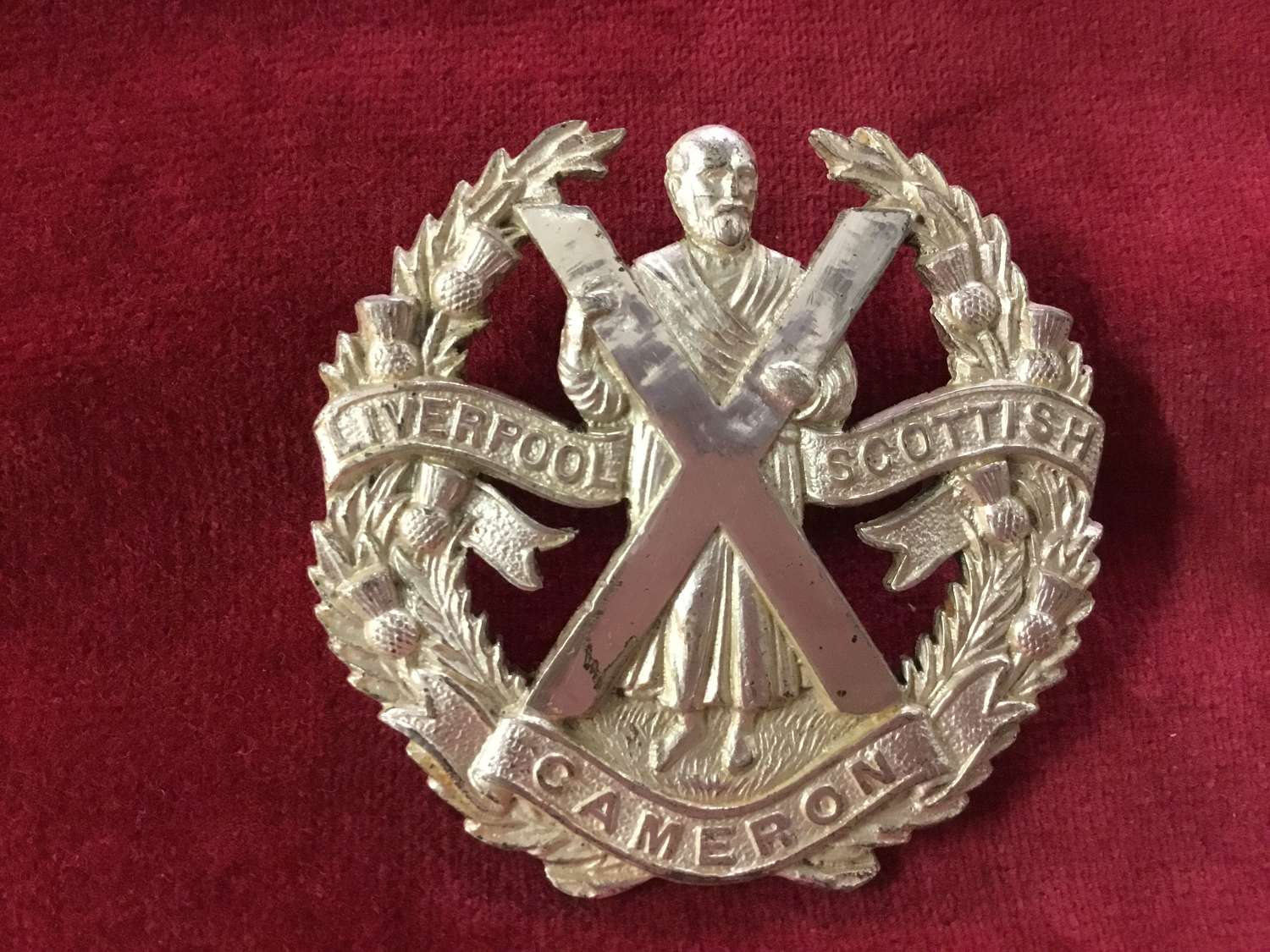 Liverpool Scottish (Cameron's) Officers Badge