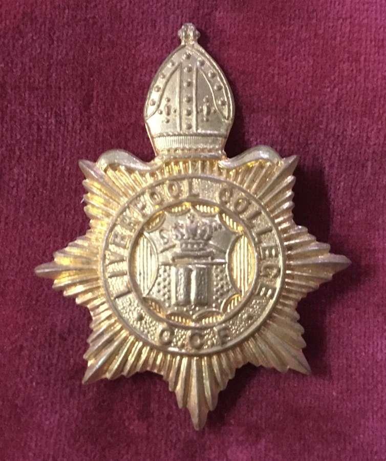 Liverpool College CCF Cap Badge