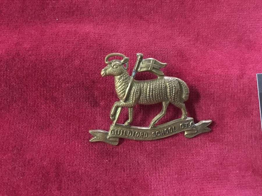 Guildford School OTC Cap Badge