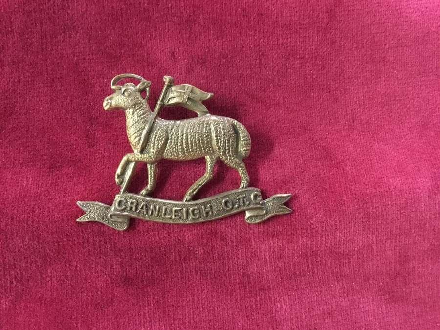 Cranleigh School OTC Cap Badge