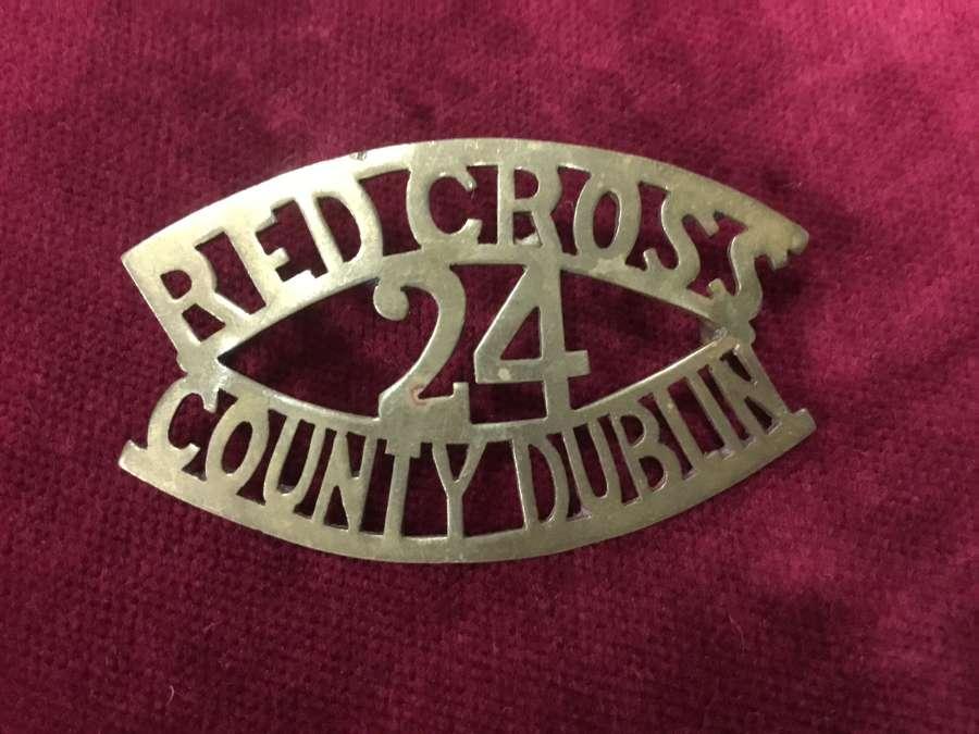 County Dublin (24) British Red Cross sheet metal Shoulder Title