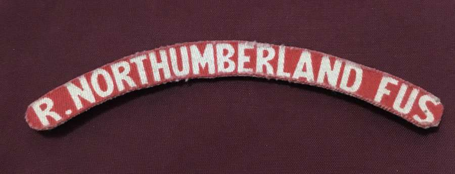 Royal Northumberland Fusiliers Printed Shoulder Title