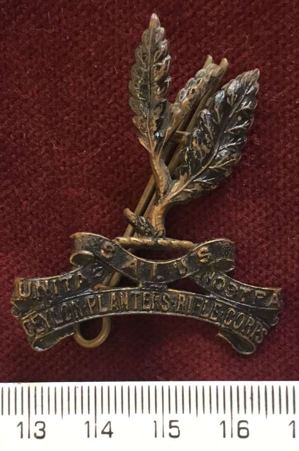 Ceylon Planters Rifle Corps Cap Badge