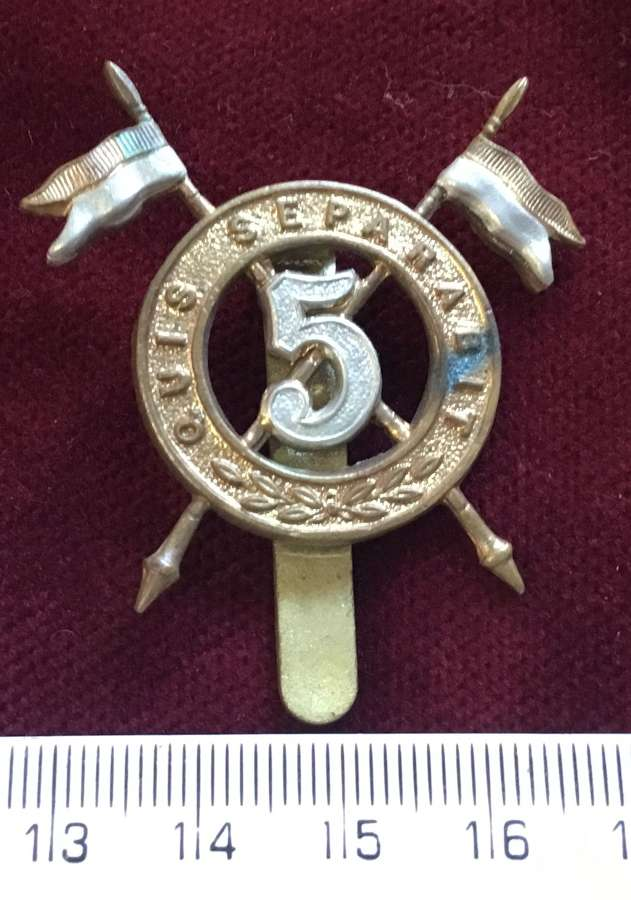 5th Royal Irish Lancers OR's Cap Badge