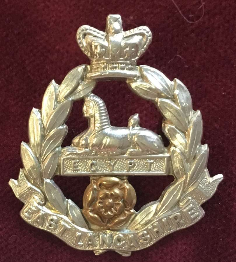 East Lancashire Regiment - Victorian OR's Cap Badge
