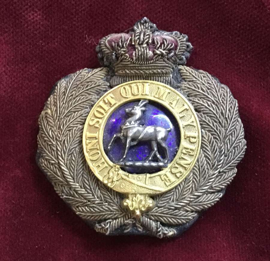 Royal Warwickshire Regt Officers Forage Cap Badge