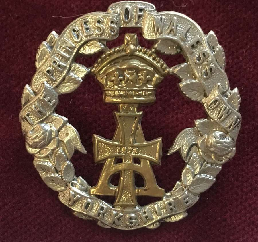 (Alexandra) Princess of Wales Own (Yorkshire) Regt Cap Badge