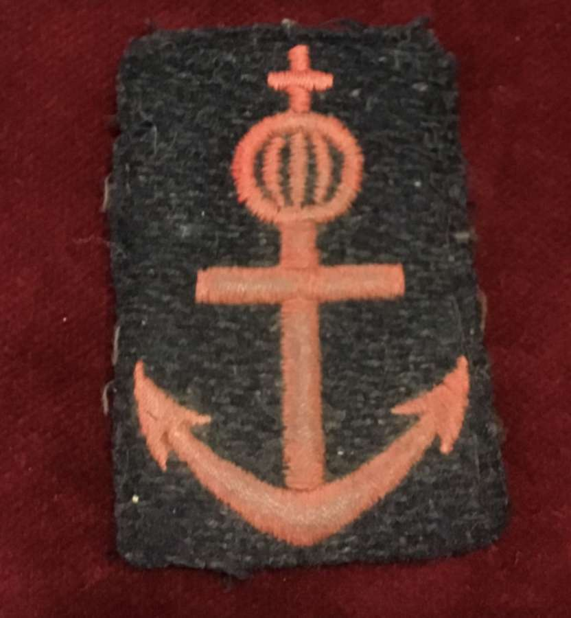 WW2 British Made Norwegian Navy arm Insignia