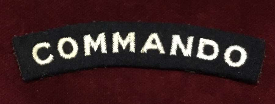 WW2 Commando embroidered Shoulder Title