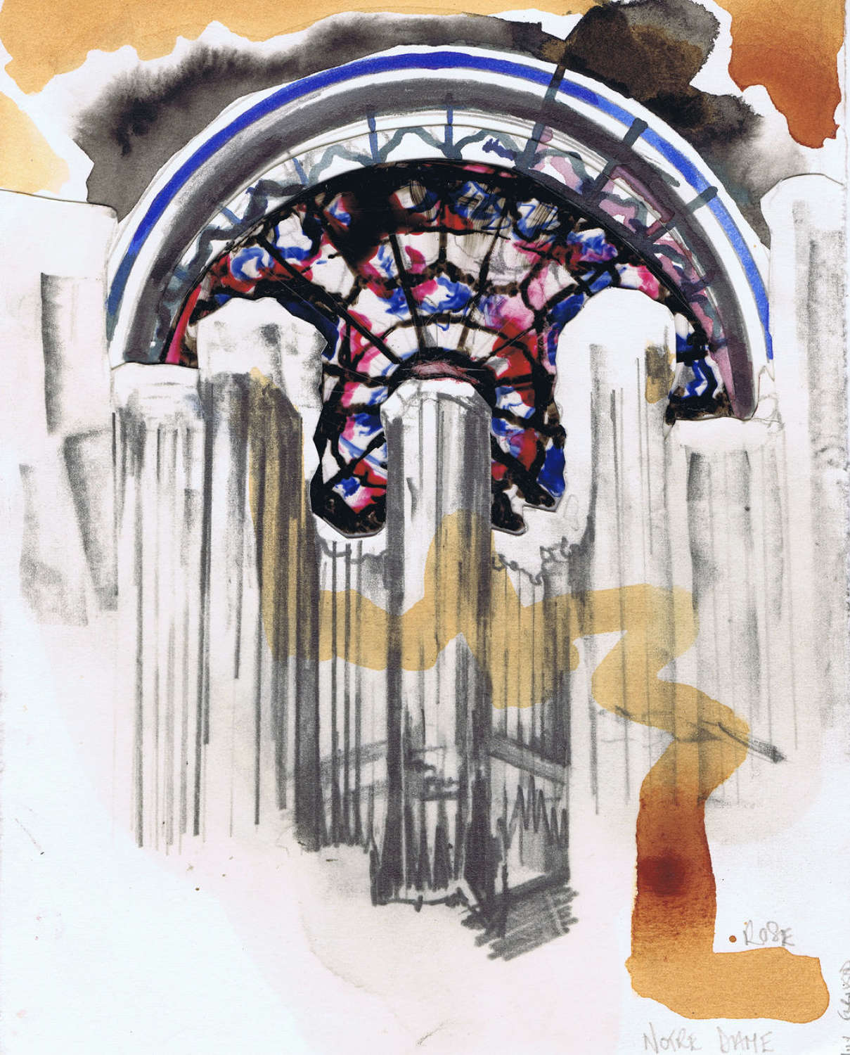 Rose Window Notre Damn, Sketch