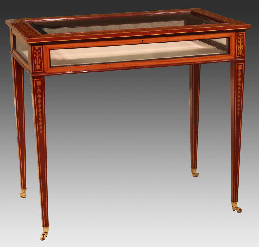 An Edwards & Roberts Late Victorian Mahogany Inlaid Rectangular Table