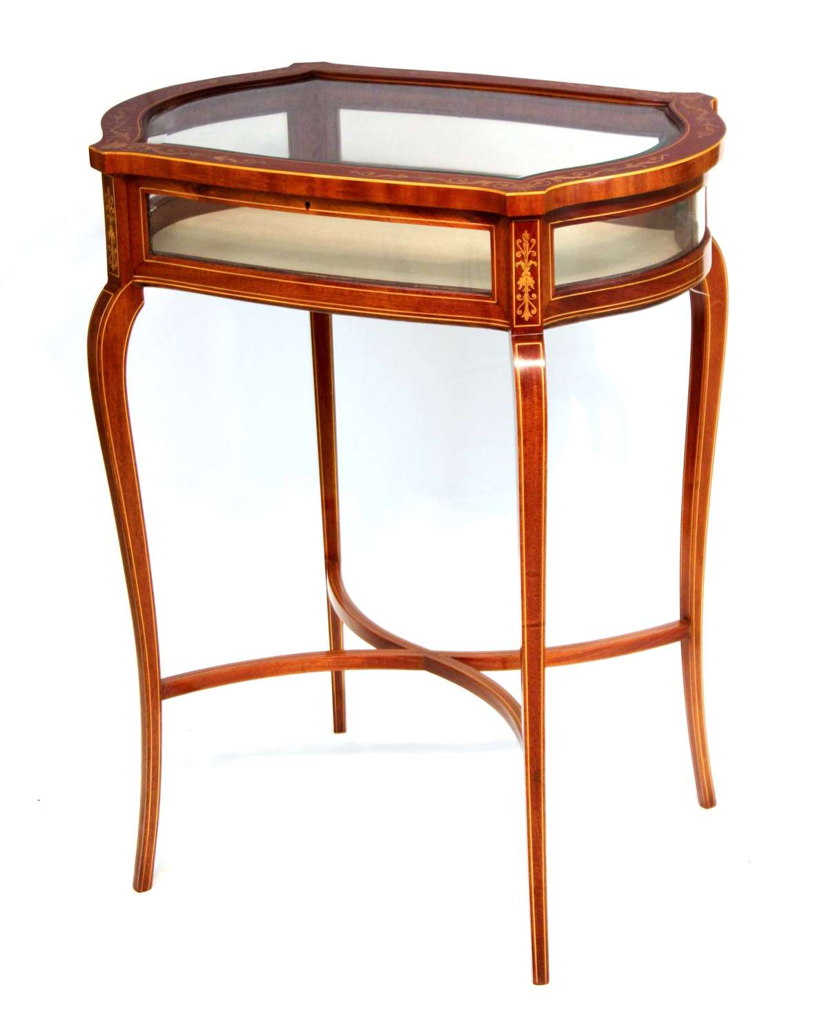 A Superb Late Victorian Mahogany Inlaid Bijouterie Table