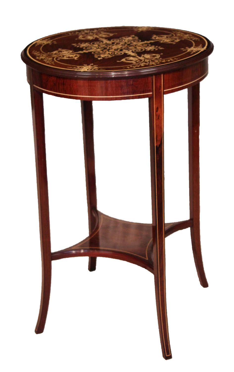 An Edwardian Quality Late Victorian Rosewood Inlaid Table