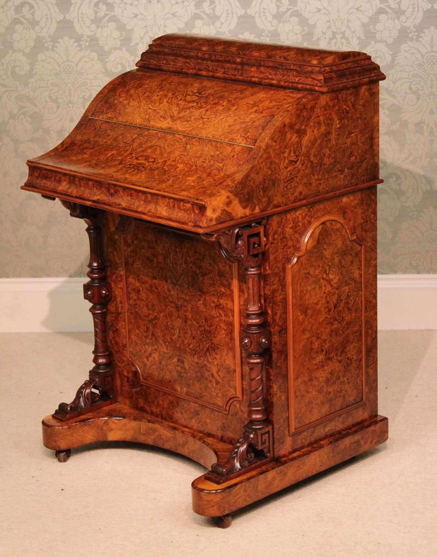A Fine Burr Walnut Victorian Piano top